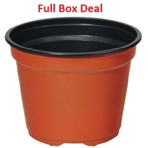 Special Full Box 2640 Black Plastic Plant Pots - 7cm Square