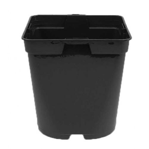 1 Litre Square Round Black Plastic Plant Pot
