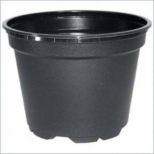 9cm Plastic Plant Pots (Black Round) Economy Packs Of 50